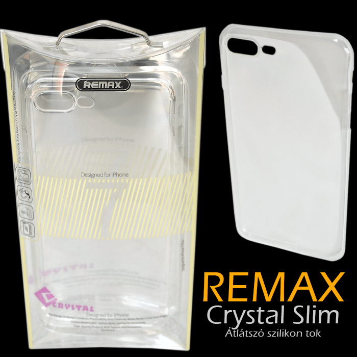 Apple iPhone 7 Plus - Remax Crystal Slim TPU átlátszó tok