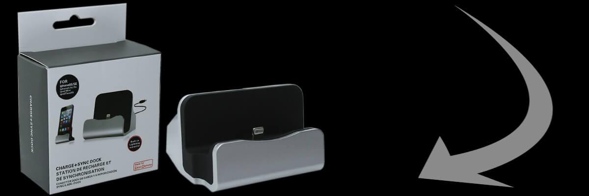 Asztali USB dokkoló lightning, vagy micro usb csatlakozóval