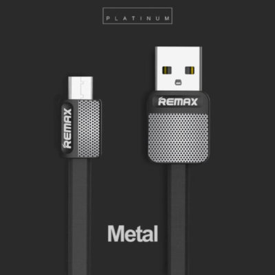 Remax Platinum Metal MicroUSB adat - töltő kábel - fekete