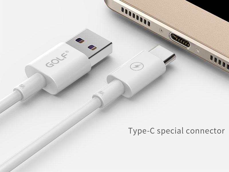 Golf USB C kábel 5A – adatkábel – prémium