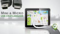 gps töltő - mini usb és micro usb csatlakozással
