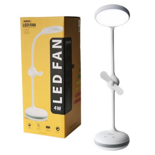 Led lámpa - asztali lámpa ventilatoros, beépített akkumulátorral