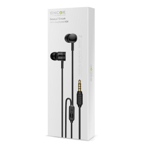 Fülhallgató/headset Baseus Encok H04 – Fekete