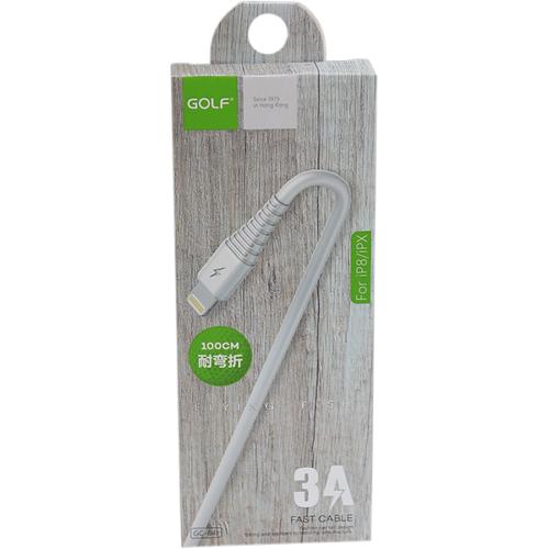 iPhone adat/töltőkábel 3A 1m Golf - Fehér