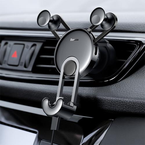 Baseus gravitációs autós telefontartó szellőzőre USB-C kábellel YY - Fekete