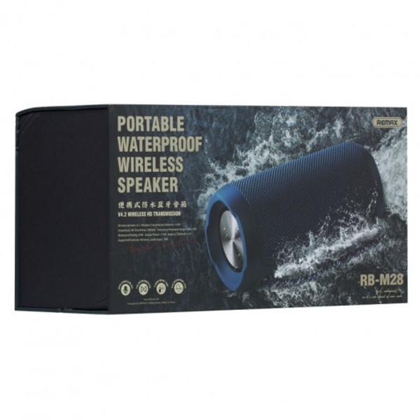Bluetooth hordozható vízálló hangszóró Remax RB-M28 - Fekete