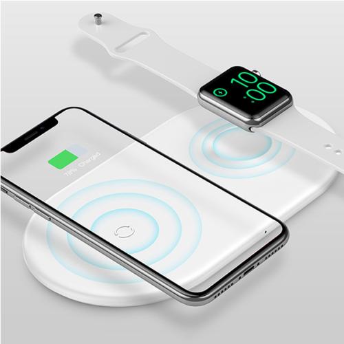 Baseus Smart 2in1 Apple Watch és telefon vezeték nélküli töltő - Fehér