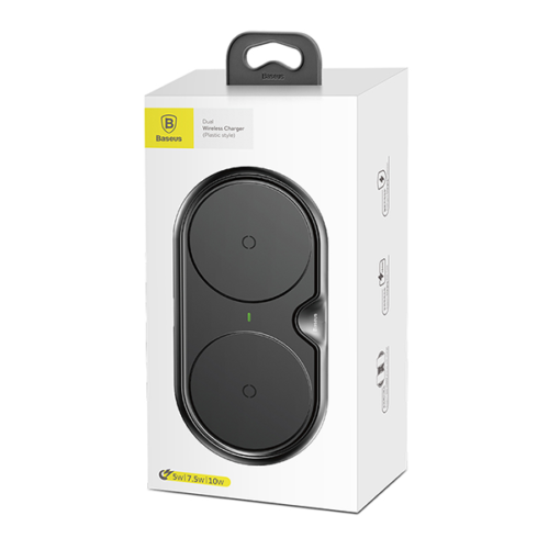 Baseus Dual vezeték nélküli - wireless töltő - Fekete