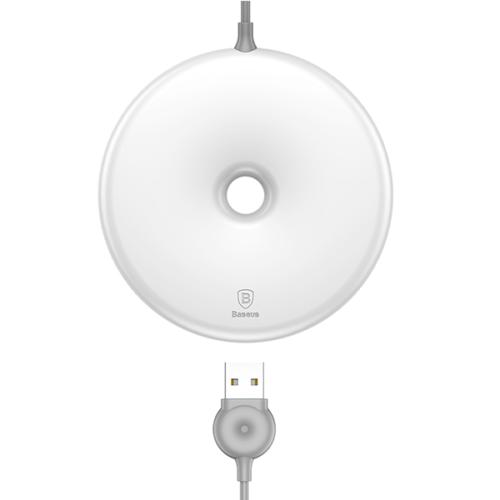 Baseus vezeték nélküli wireless gyorstöltő Donut - Fehér