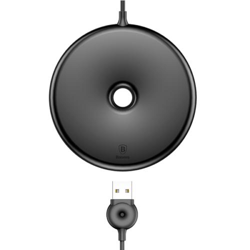 Baseus vezeték nélküli wireless gyorstöltő Donut - Fekete