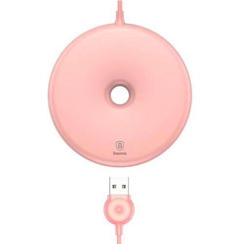Baseus vezeték nélküli wireless gyorstöltő Donut - Rózsaszín