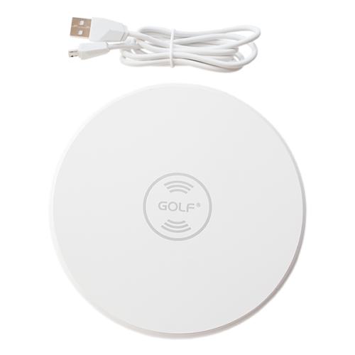 Golf vezeték nélküli - wireless töltő WQ3 2,1A - Fehér
