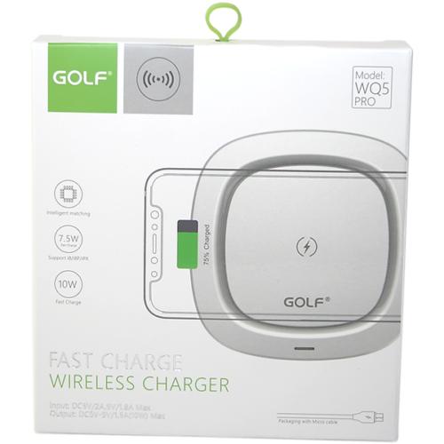 Golf vezeték nélküli - wireless töltő - WQ5 10W - Fehér