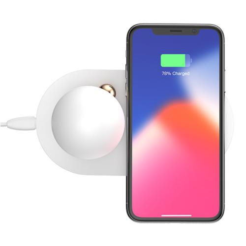 Baseus lámpa és asztali vezeték nélküli wireless töltő 2in1