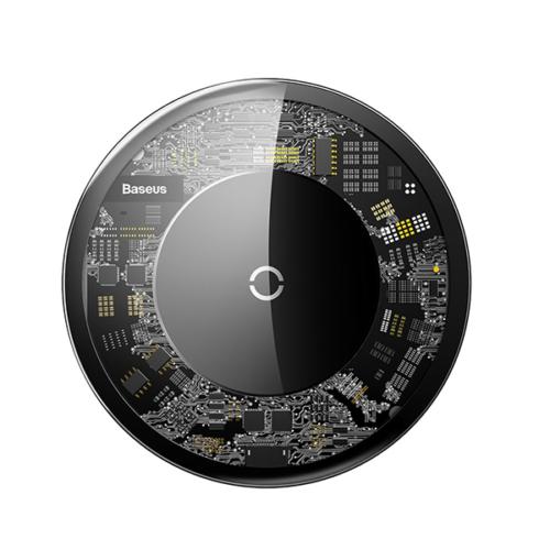 Baseus Simple vezeték nélküli Wireless gyorstöltő - Átlátszó